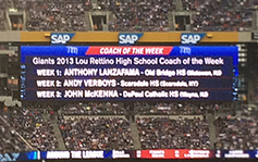 Metlife Stadium - Lit Electronic Reader Board