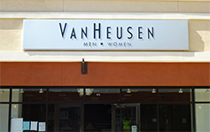 Philip Van Heusen - Storefront Sign